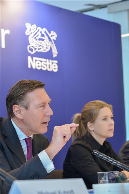 Nestle-Deutschlandchef Berssenbrügge stellt die Qualitäts- und Kommunikationsoffensive vor